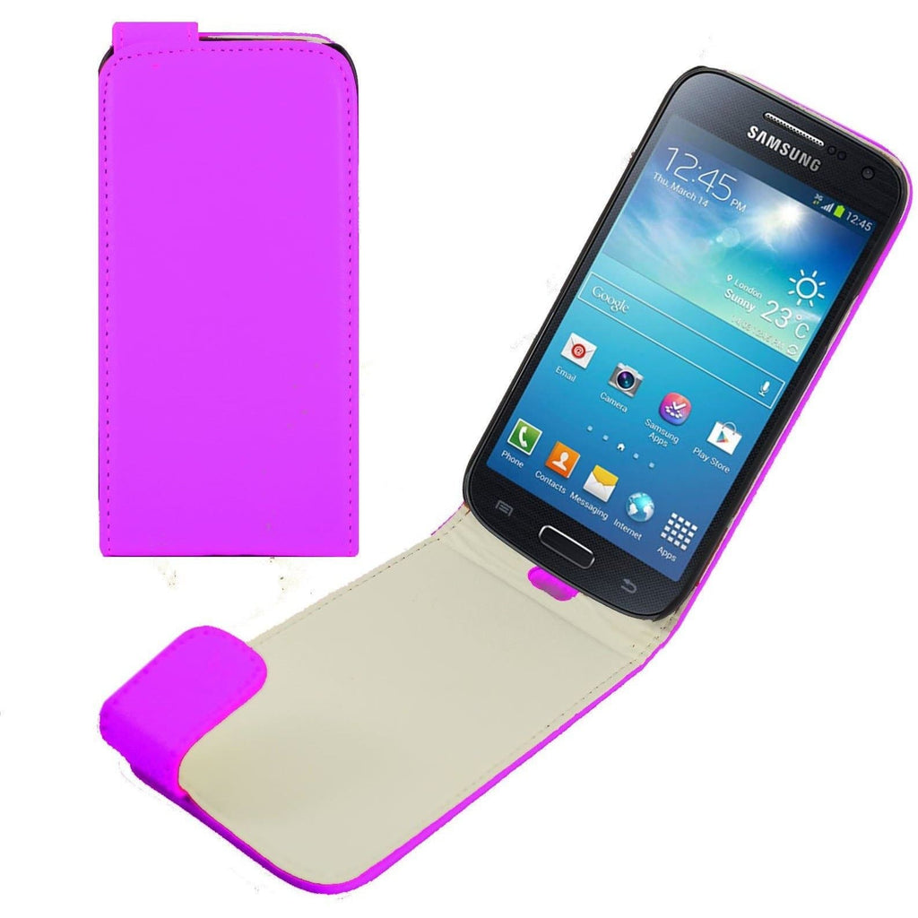 Purple Samsung Galaxy S4 Mini PU Leather Flip Case