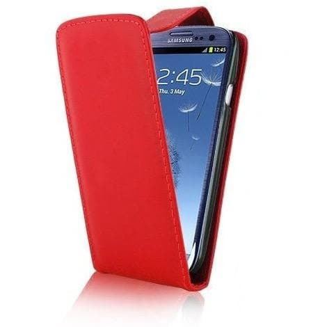 Red Flip Leather Case Cover Pouch For Samsung Galaxy S3 (I9300)