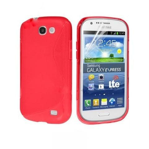 Red S Line Gel Silicone Rubber Case Cover Samsung Galaxy Express I8730