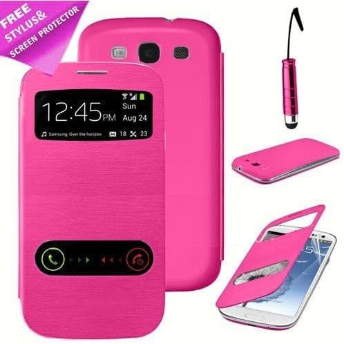 S View Case For Samsung Galaxy S3 I9300 - Pink