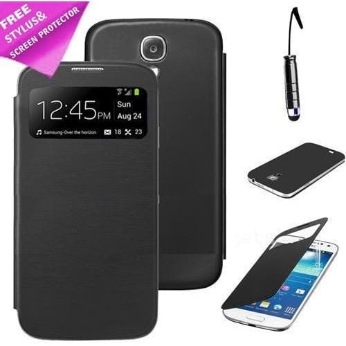 Samsung Cases - S View Case For Samsung Galaxy S4 Mini I9190 - Black