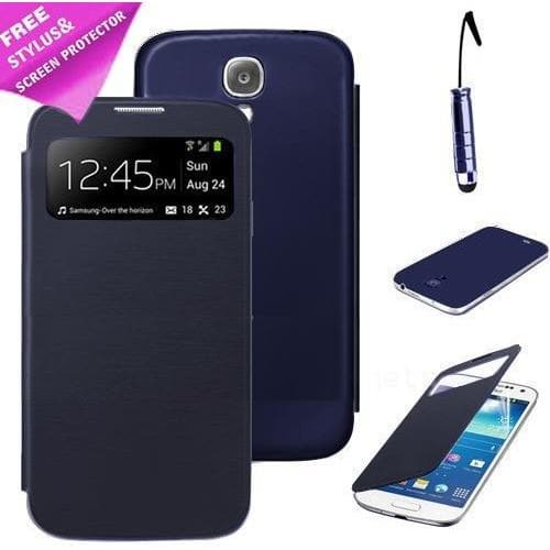 S View Case For Samsung Galaxy S4 Mini I9190 - Blue