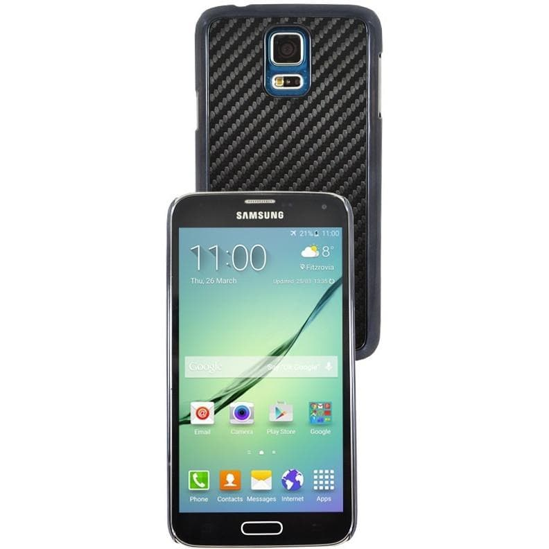 Samsung Cases - Samsung Galaxy S5 Luxury Carbon Case - Black / Blue
