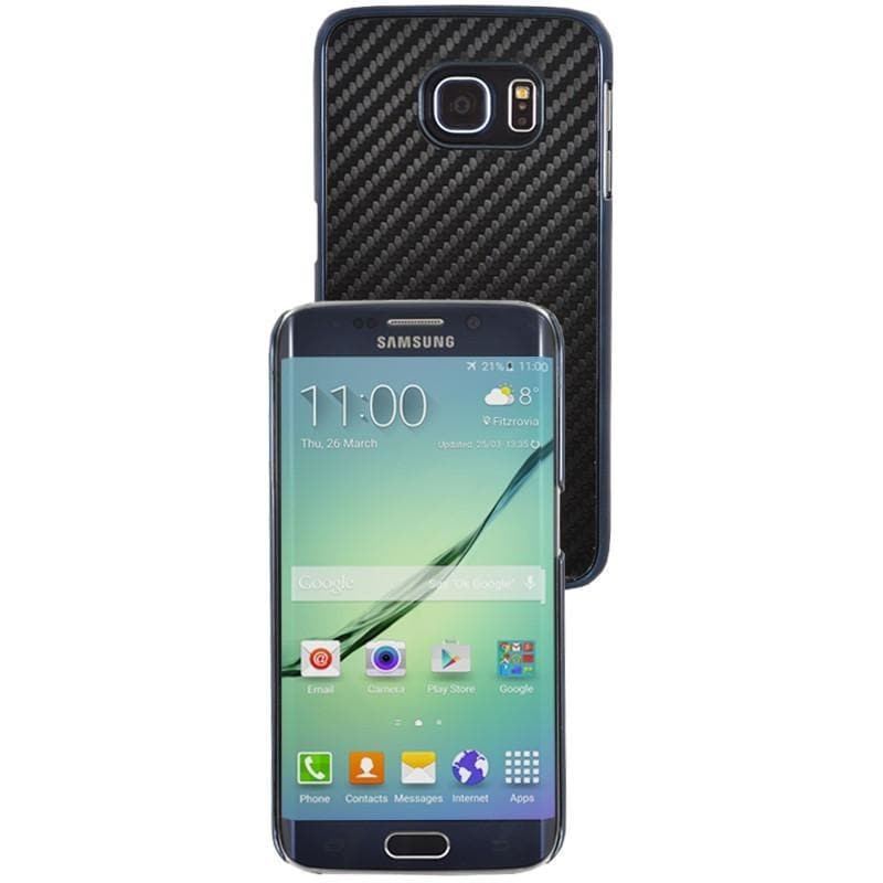 Samsung Galaxy S6 Edge Luxury Carbon Case - Black / Blue