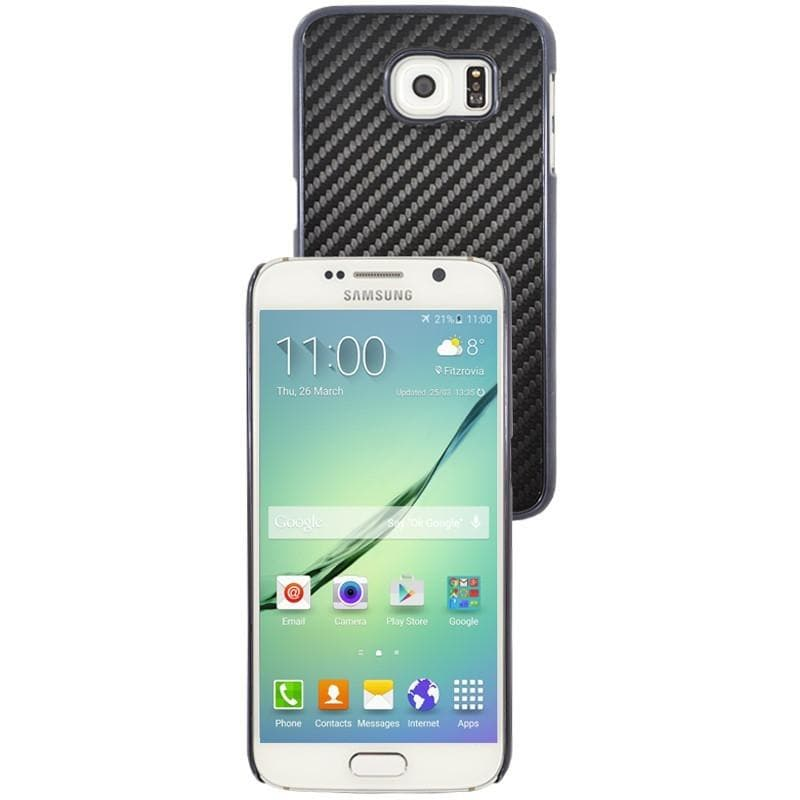 Samsung Galaxy S6 Luxury Carbon Case - Black / Blue