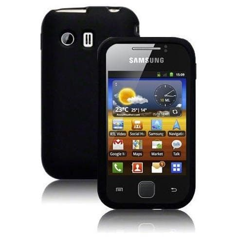 Samsung Galaxy Y - Black - Silicone Case Cover