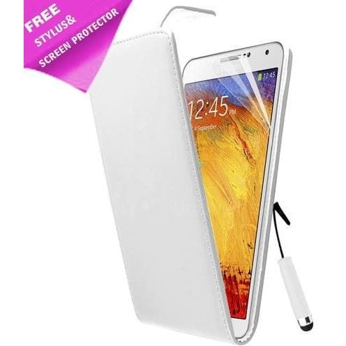 Samsung Cases - White  Flip Pu Premium  Leather Case For Samsung Galaxy Note 3 N9000 N9005+ Screen Protector And Stylus Pen