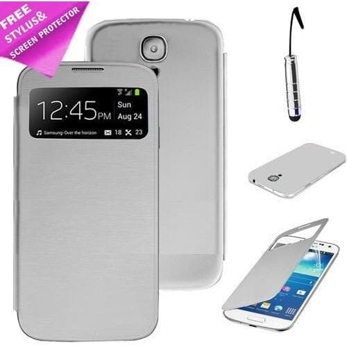 Samsung Cases - White Flip S View Pu Leather Case Cover For Samsung Galaxy S4 Mini I9190 + Screen Protector & Stylus Pen