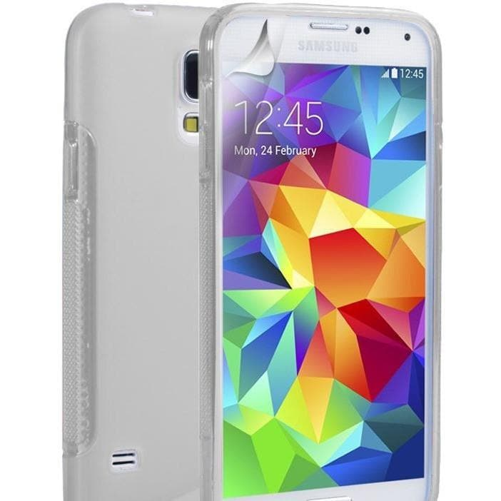 Samsung Cases - White S Line Case Cover Fits Samsung Galaxy S5 (I9600)