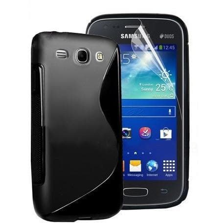 White S Line Gel Silicone Rubber Case Cover Samsung Galaxy Express I8730