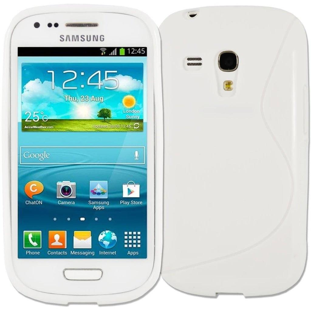 Samsung Cases - White Samsung Galaxy S3 Mini S Line Silicone Case