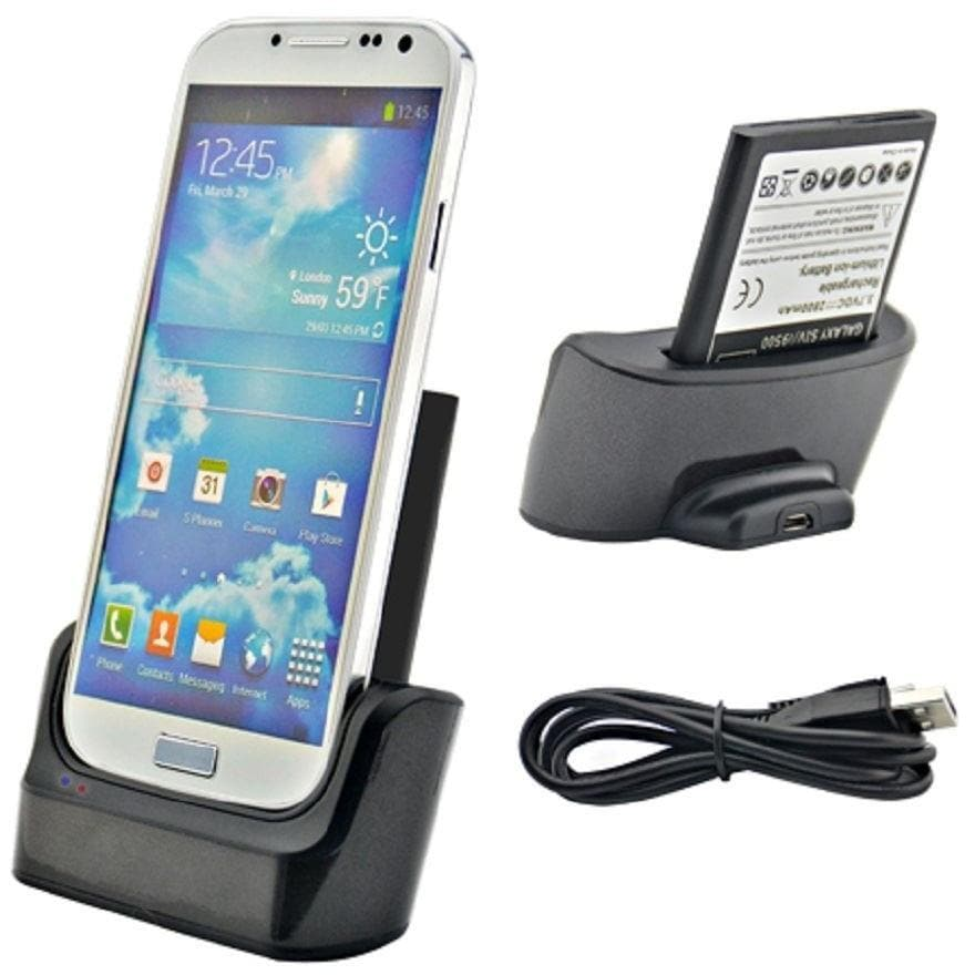 Samsung Charging - Dual Sync USB Docking Station + Battery Charger For Samsung Galaxy S4 (I9500)