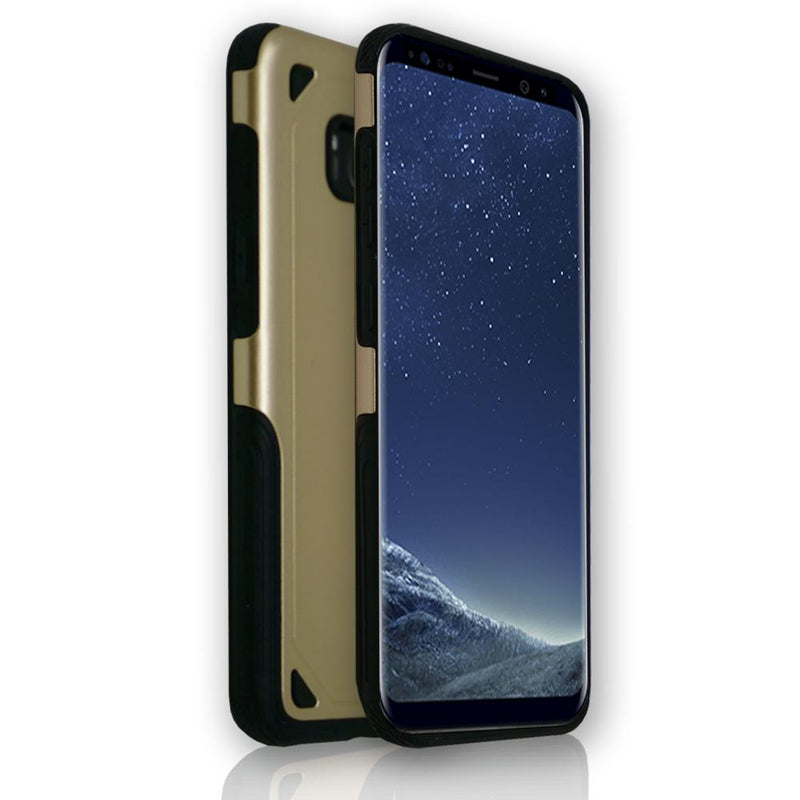 Samsung Galaxy S8 Plus - Shock Proof Silicone Hard Protective Armour Case - Gold
