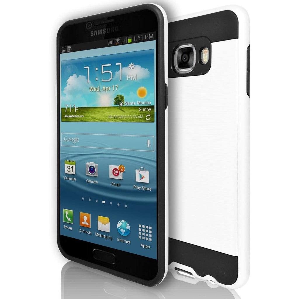 Samsung Galaxy C5 - Rugged Shock Proof Case - White