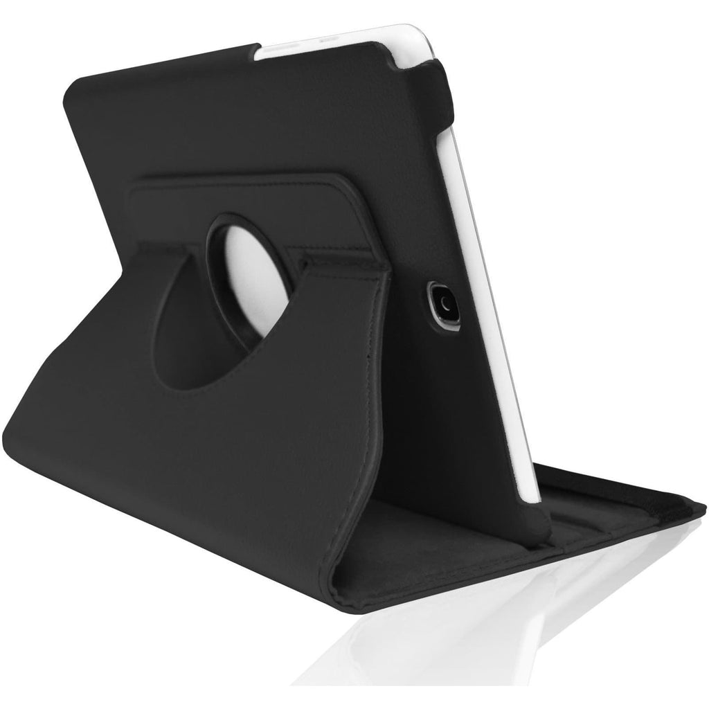 "Black Leather 360 Degree Rotating Case Cover Stand For Samsung Galaxy Note Tab 3 8"" T310 T311 T315"