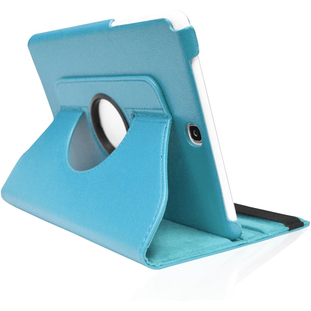 "Blue Leather 360 Degree Rotating Case Cover Stand For Samsung Galaxy Note Tab 3 8"" T310 T311 T315"