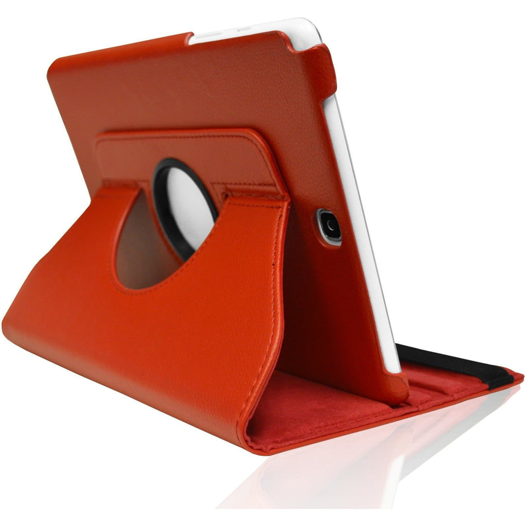 "Red Leather 360 Degree Rotating Case Cover Stand For Samsung Galaxy Note Tab 3 8"" T310 T311 T315"