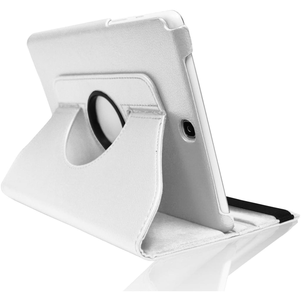 "White Leather 360 Degree Rotating Case Cover Stand For Samsung Galaxy Note Tab 3 8"" T310 T311 T315"