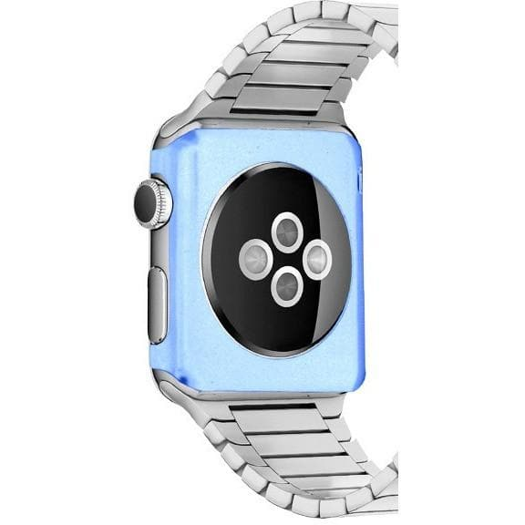 Blue 42mm Aluminium Metal Protective Rear Cover Case For Apple Watch