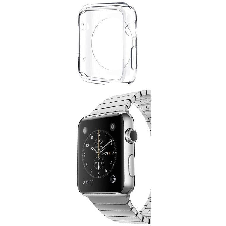Clear Transparent Protective Silicone Case Sleeve For Apple Watch 42mm