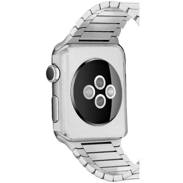 SILVER 42MM ALUMINIUM METAL PROTECTIVE REAR COVER CASE - APPLE WATCH