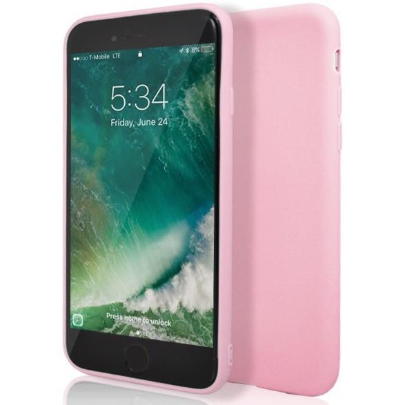 the latest 81d32 eec57 iPhone 7 Plus- Protective Baby Pink Matte Silicone Case