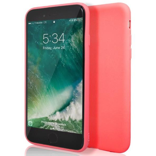 Coral Matte Silicone Case for Apple iPhone 7 Plus