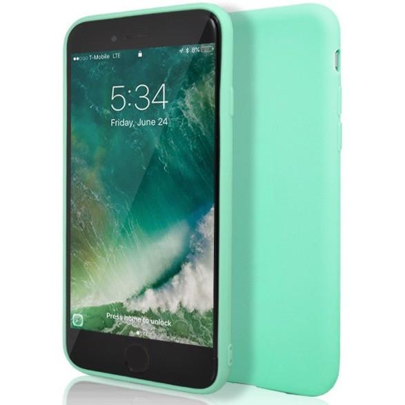 Teal Matte Silicone Case for Apple iPhone 7