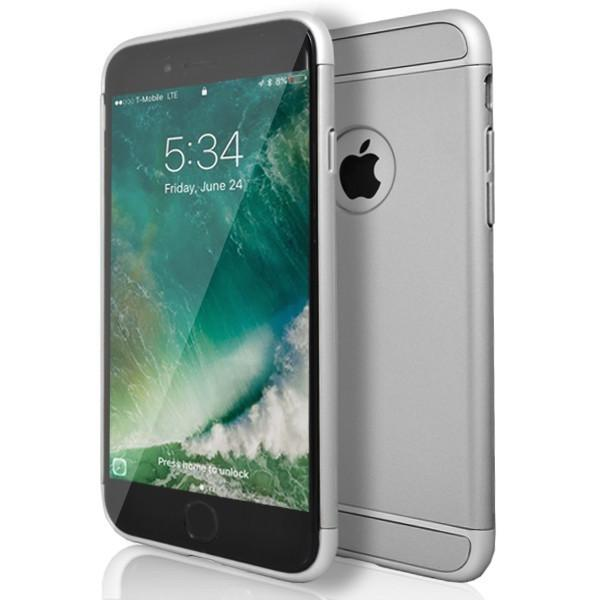 iPhone 6 / 6S - Super Slim Protective Case With Hole For Apple Logo - Silver