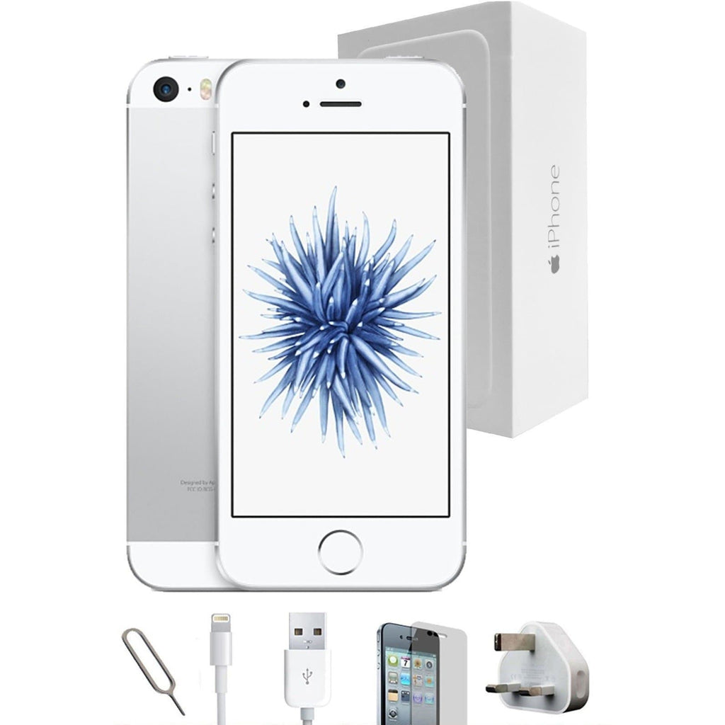 Apple iPhone SE - 64GB White / Silver Unlocked Grade A Full Bundle