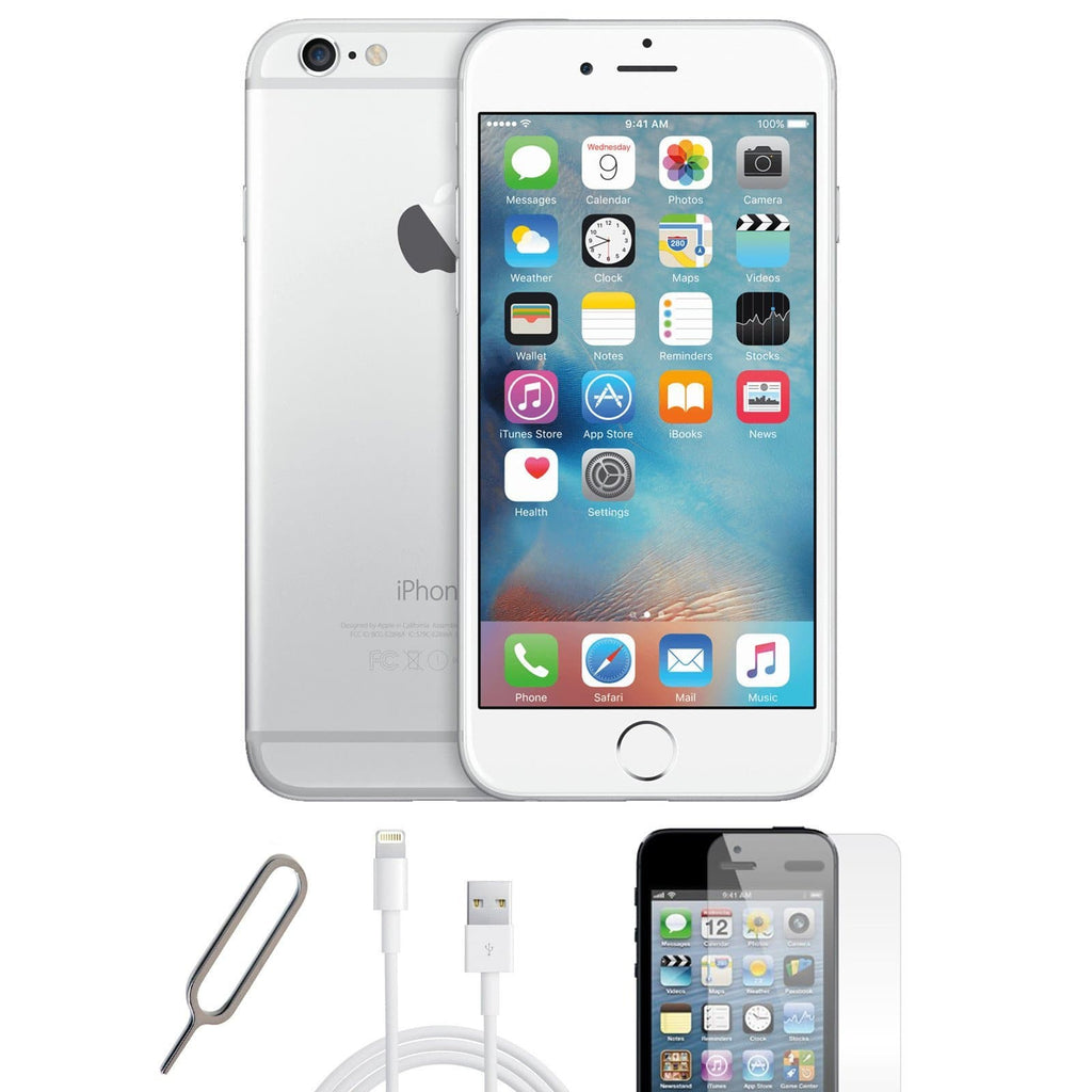 Apple iPhone 6 Silver / White - (16GB) - Unlocked - Pristine Basic Bundle