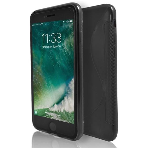 iPhone 7- Black S Line Gel Soft Silicone Case