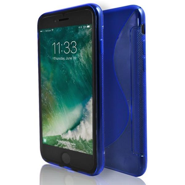 iPhone 7- Blue S Line Gel Soft Silicone Case
