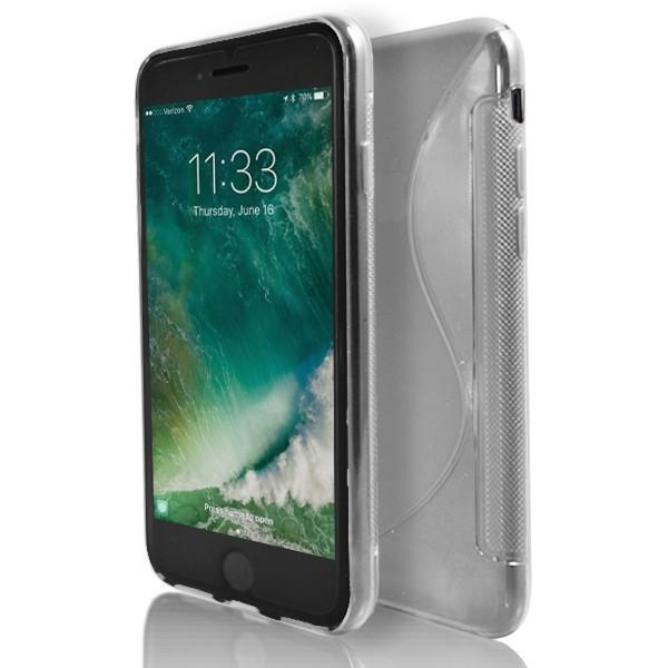 iPhone 8 Plus- Clear Transparent S Line Gel Soft Silicone Case
