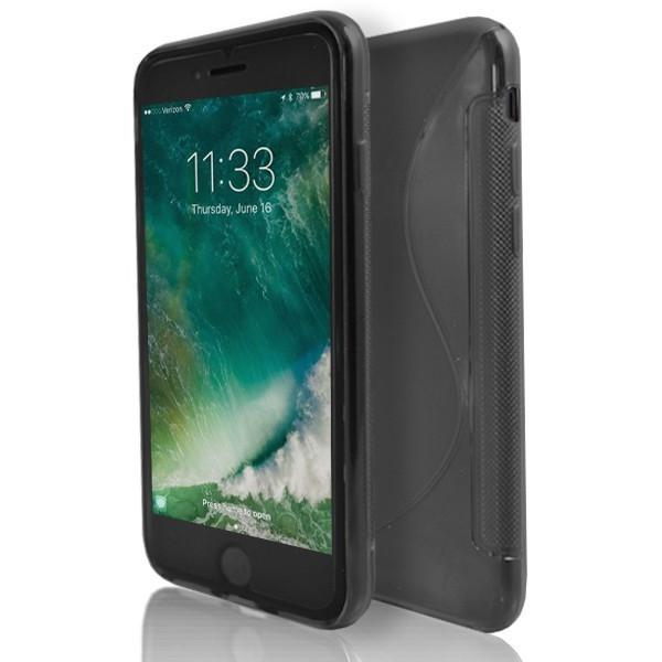 iPhone 7 Plus- Black Grey Smoked S Line Gel Soft Silicone Case