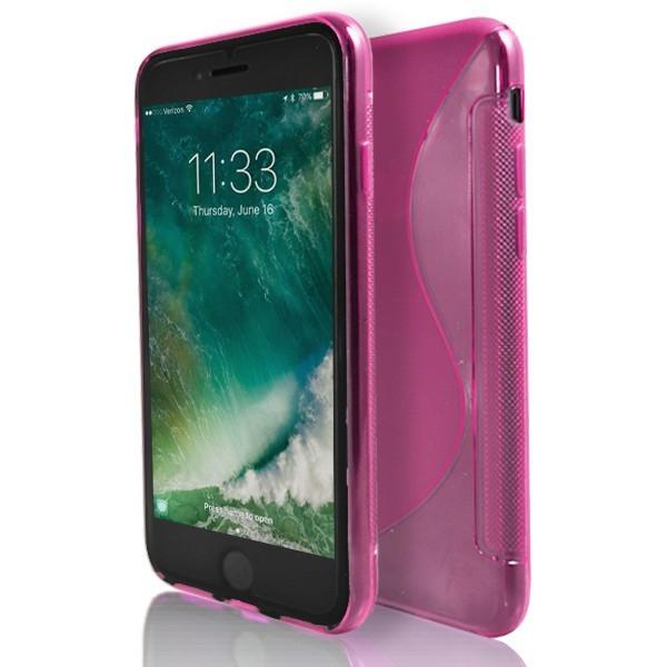 iPhone 7 Plus- Pink S Line Gel Soft Silicone Case