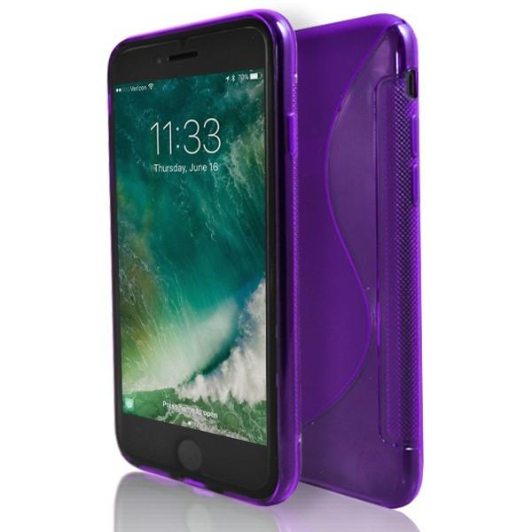iPhone 7- Purple S Line Gel Soft Silicone Case