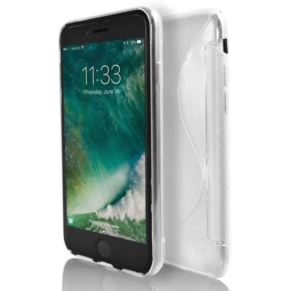 iPhone 8 Plus- White S Line Gel Soft Silicone Case