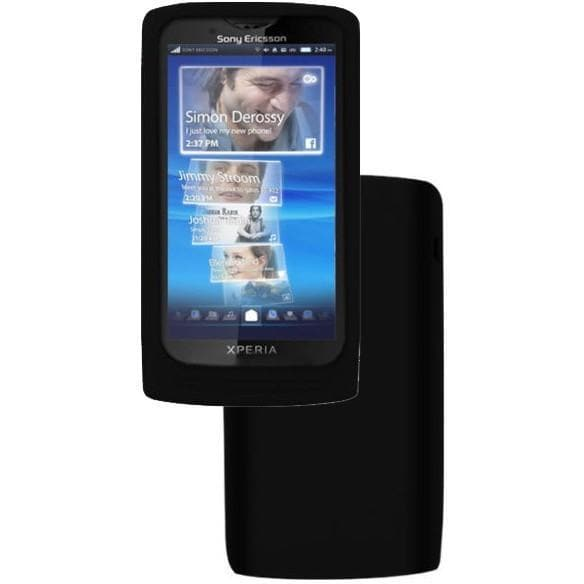 Black Silicone Case Cover For Sony Ericsson Xperia X10