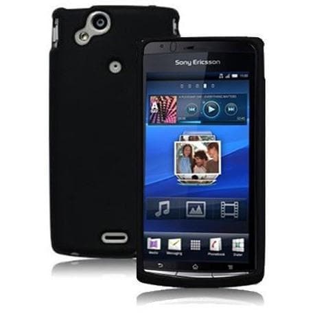 Black Silicone Case For Sony Ericsson X12 Xperia Arc