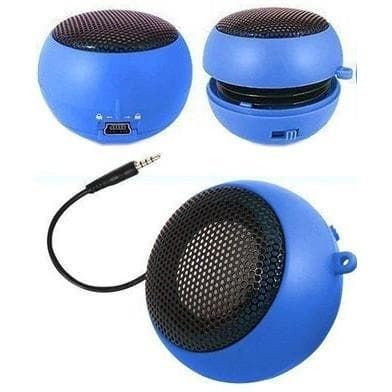 Speakers - Blue Mini Travel Portable Speaker For Ipod Iphone Mp3 Laptop Ipad Mobile Phone