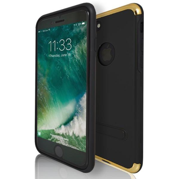 iPhone 7 Plus- Protective Shell Silicone Card Case - Black