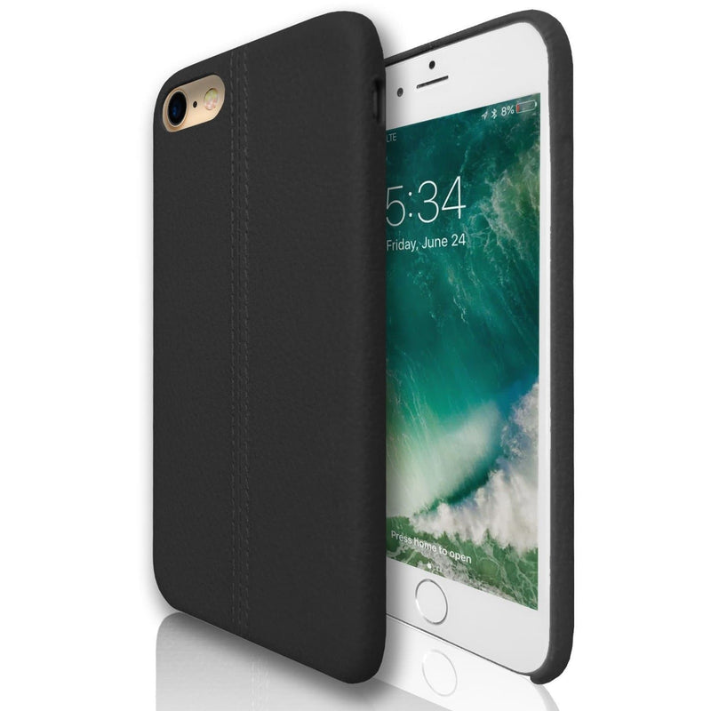 Apple iPhone 7 - Stitched Silicone Protective Case - Black
