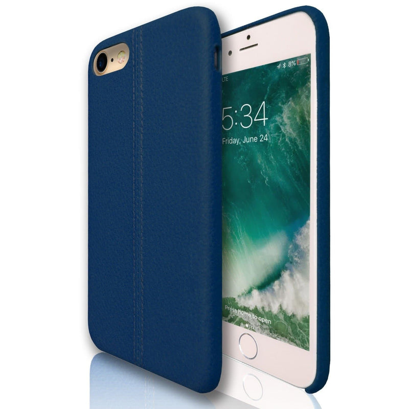 Apple iPhone 7 - Stitched Silicone Protective Case - Blue