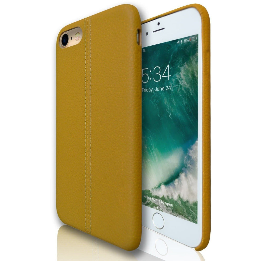 Apple iPhone 8 Plus - Stitched Silicone Protective Case - Tan