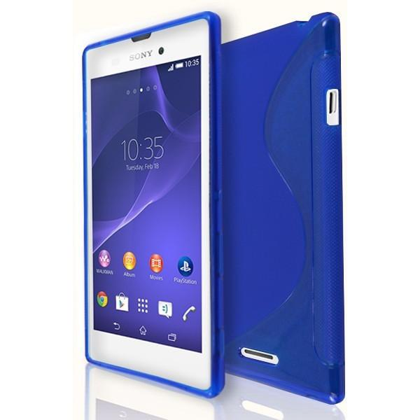 Sony Xperia T3 - Blue S Line Gel Silicone Case