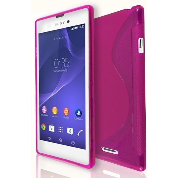 Sony Xperia T3 - Pink S Line Gel Silicone Case