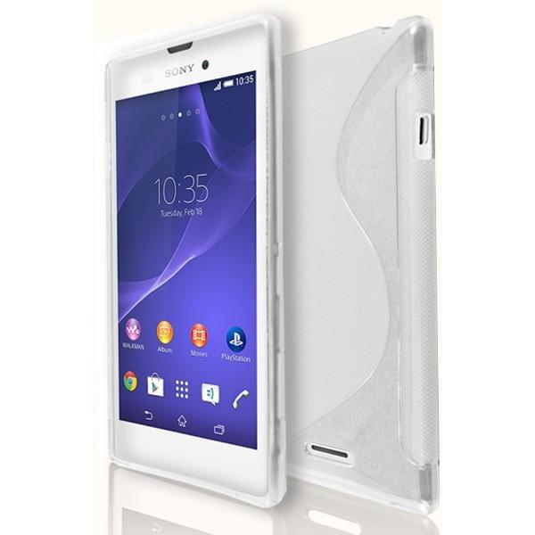 Sony Xperia T3 - White S Line Gel Silicone Case