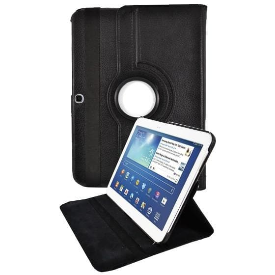 "Tablet Cases - Black Leather 360 Degree Rotating Case Cover Stand For Samsung Galaxy Note Tab 3 8"" T310 T311 T315"