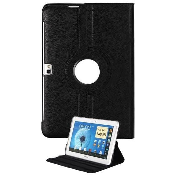 Black Leather 360 Degree Rotating Case Cover Stand For Samsung Galaxy Note Tablet 10.1 N8000